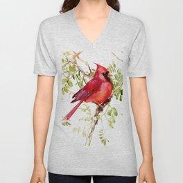 Northern Cardinal Unisex V-Neck