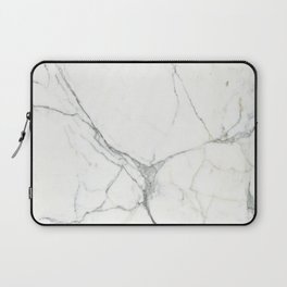 White marble pattern Laptop Sleeve