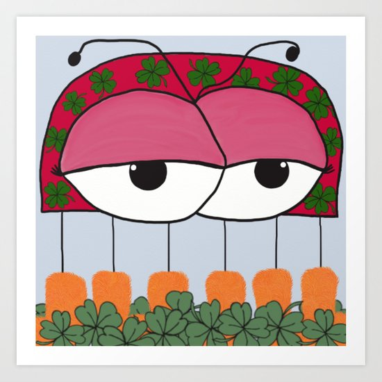 The Irish Ladybird Art Print