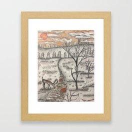 Kentucky Sunset Framed Art Print