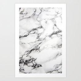 White Marble Iphone Case Art Print