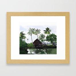 83 - Kerala scenery- Alleppey backwaters Framed Art Print
