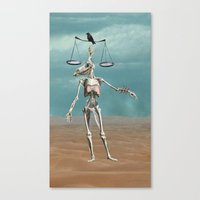 justice Canvas Prints featuring Justice by tinycog