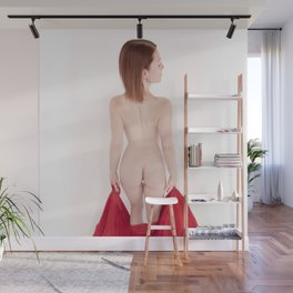 1641s-MM High Key Art Nude Model Megan's Beautiful Back Wall Mural