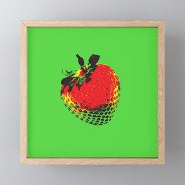 Strawberry Green - Posterized Framed Mini Art Print