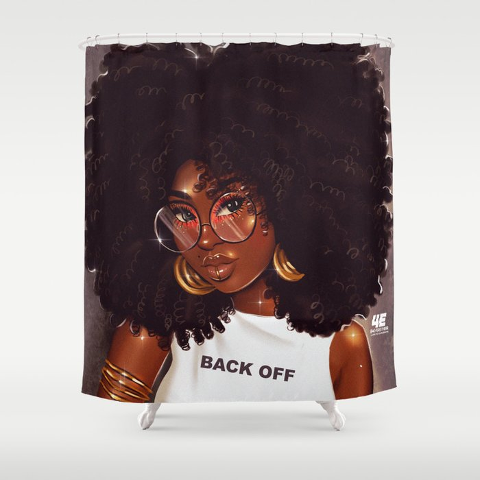 Back Off Shower Curtain