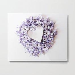 Hyacnth Heart Metal Print