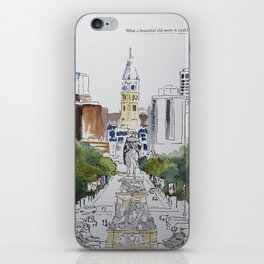View of JFK BLVD, Philadelphia iPhone Skin