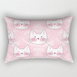 Little Girls Birthday Kitty Cats Rectangular Pillow