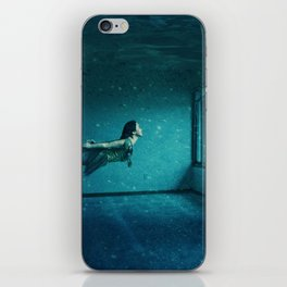 swimming girl iPhone Skin