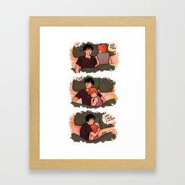 Aggressive cuddling Framed Art Print