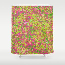Hawaian Ancient Pai Pai Patten Shower Curtain
