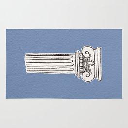Greek ionic column Rug