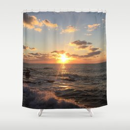 Mediterranean Sunset (Joppa) Shower Curtain