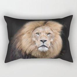 Closeup Portrait of a Male Lion Rectangular Pillow