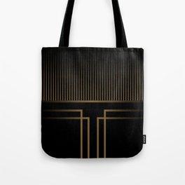 Art Deco Gold/Black Pattern II Tote Bag