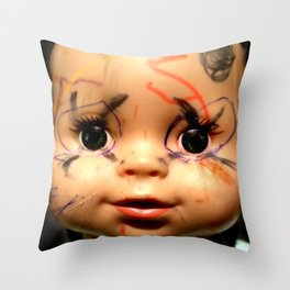 Punk Baby Throw Pillow