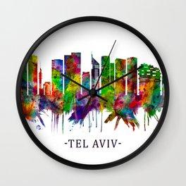 Tel Aviv Israel Skyline Wall Clock