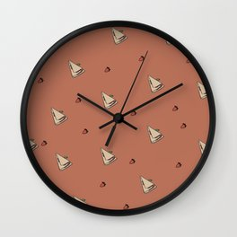 Strawberry crepes Wall Clock