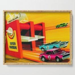 Vintage Hot Wheels Redline Dual-Lane Rod Runner Racing Poster Trade Print Serving Tray