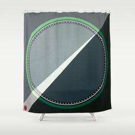 London - green circle Shower Curtain