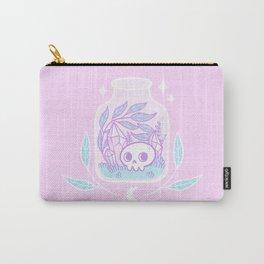 Pastel Terrarium / Pink Carry-All Pouch