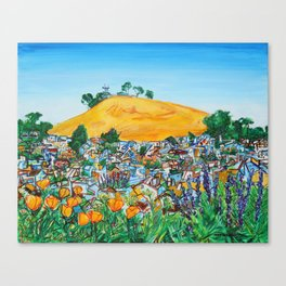 Wildflowers View of Bernal Hill Canvas Print