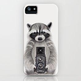 Raccoon Measuring Light / Mapache Midiendo la Luz iPhone Case