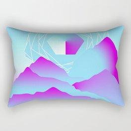 Crimson Terrain Rectangular Pillow