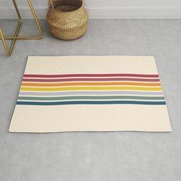 Enera - Classic 70s Vintage Style Retro Stripes Rug