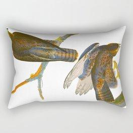 Black Warrior Bird Rectangular Pillow