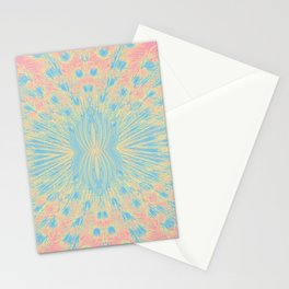 Peacock feathers in pastel Stationery Cards