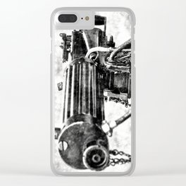 Vickers Machine Gun Vintage Clear iPhone Case