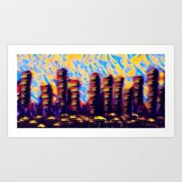 City of System 7 Art Print