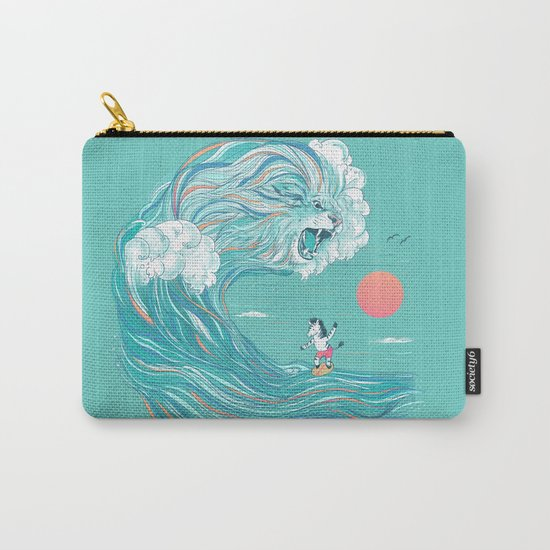 surfing zebra Carry-All Pouch