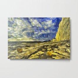 Birling Gap And Seven Sisters Van Gogh Metal Print