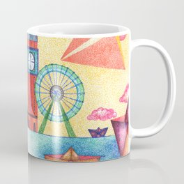 cityline in dots Coffee Mug