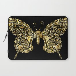 Gold butterfly Laptop Sleeve