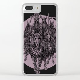 """""""The four horsemen of the apocalipse"""" Clear iPhone Case"""