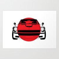 240Z - Japanese Flag Art Print