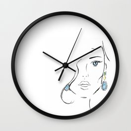 Topaz eye Wall Clock