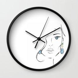Topaz eye Wall Clock