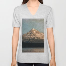 Happy Mountain :) Unisex V-Neck