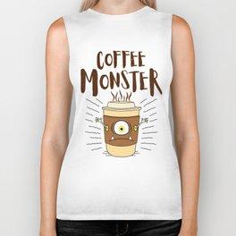 Coffee Monster - Coffeeholic Coffee Cup Biker Tank