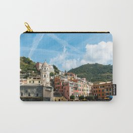 Cinque Terre, Vernazza Village | Mediterranean Coast, Italy | Pastel colorful travel photography in Europe | Art Print Carry-All Pouch