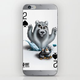 Two of Spades / No selfies! iPhone Skin