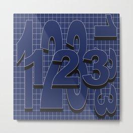 123 Metal Print