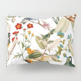 Floral and Birds XXXII Pillow Sham