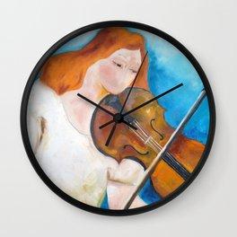 Tocando violino (Playing the violin) Wall Clock