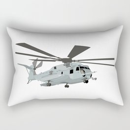 Military CH-53E Helicopter Rectangular Pillow